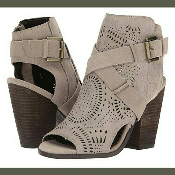 8637cec70 ZUZANNA TAUPE LEATHER ANKLE BOOTIE- NIB. Boutique. NAUGHTY MONKEY